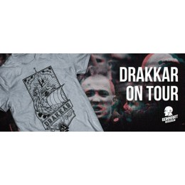 "Футболка BonMart ""Drakkar on Tour"" серая"