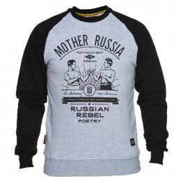 """Свитшот Mother Russia """"Поединок"""" серый"""