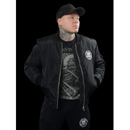 Мужской бомбер Своя Культура «БСК1» черный