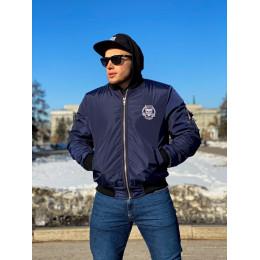 Мужской бомбер Своя Культура «БСК1» синий