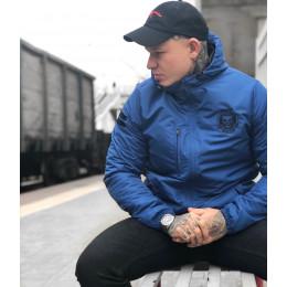 """Демисезонная куртка Своя Культура """"СК - 01"""" синяя"""