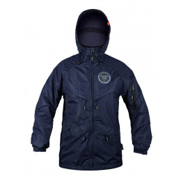 Куртка на молнии Варгградъ мужская тёмно-синяя (на флисе)