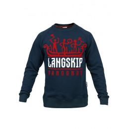 Свитшот Варгградъ «LangSkip» (бархат) В-Л тёмно-синий